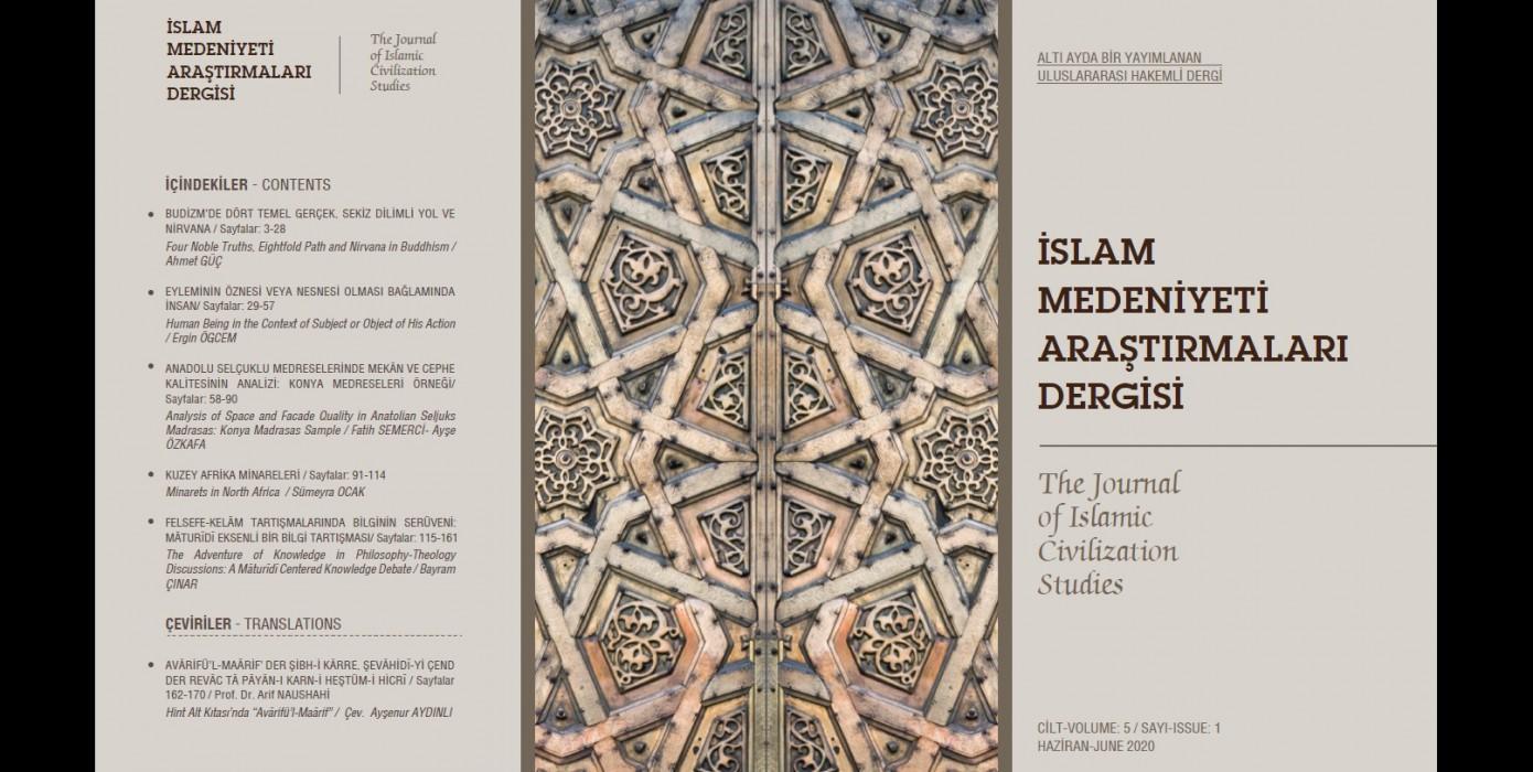 İslam Medeniyeti Araştırmaları Dergisi'nin (İmad) 5. Cilt 1. Sayısı Yayımlandı