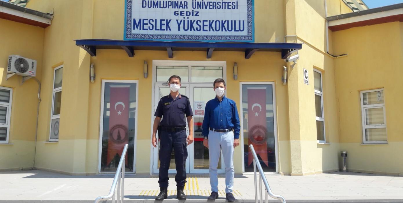 Gediz İlçe Jandarma Komutanlığı'ndan Gediz Meslek Yüksekokulu'na Ziyaret