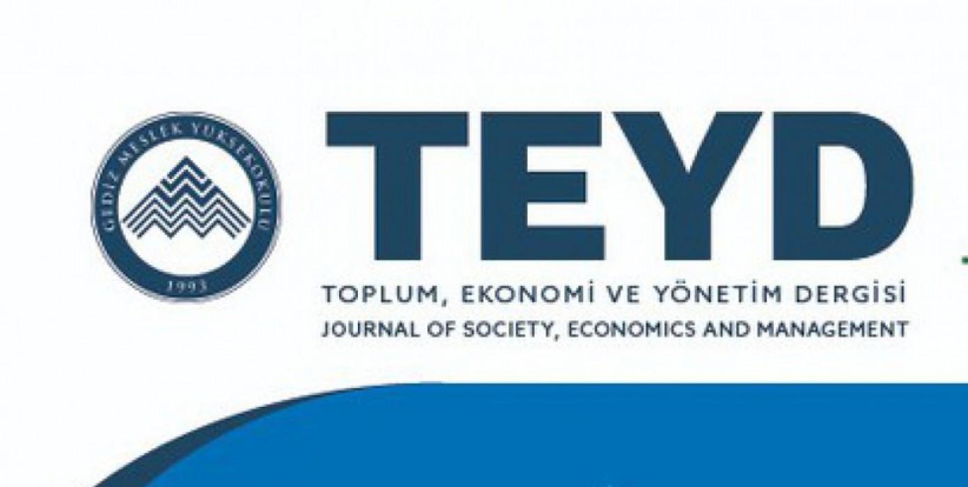 Gediz Myo'dan Toplum, Ekonomi ve Yönetim Dergisi