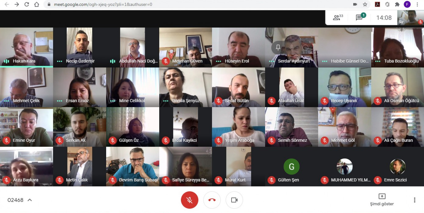 2020 - 2021 Eğitim Öğretim Yılı Güz Yarıyılı Online Akademik Kurul Toplantısı