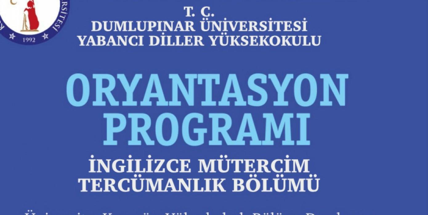 İngilizce Mütercim Tercümanlık Oryantasyon Programı