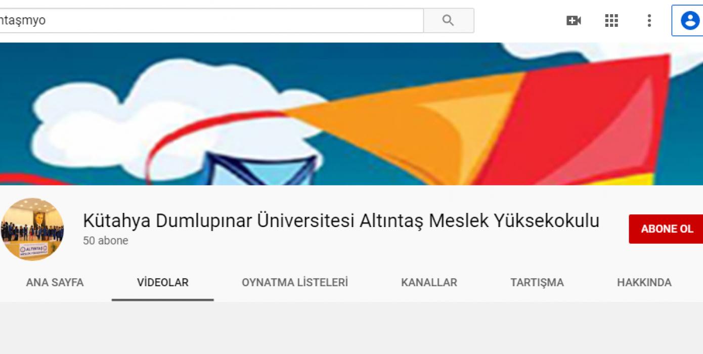 Altıntaş MYO 2020-2021 Oryantasyon Programı Videolarına Erişmek İçin Okulumuzun Youtube Sayfasını Ziyaret Edin