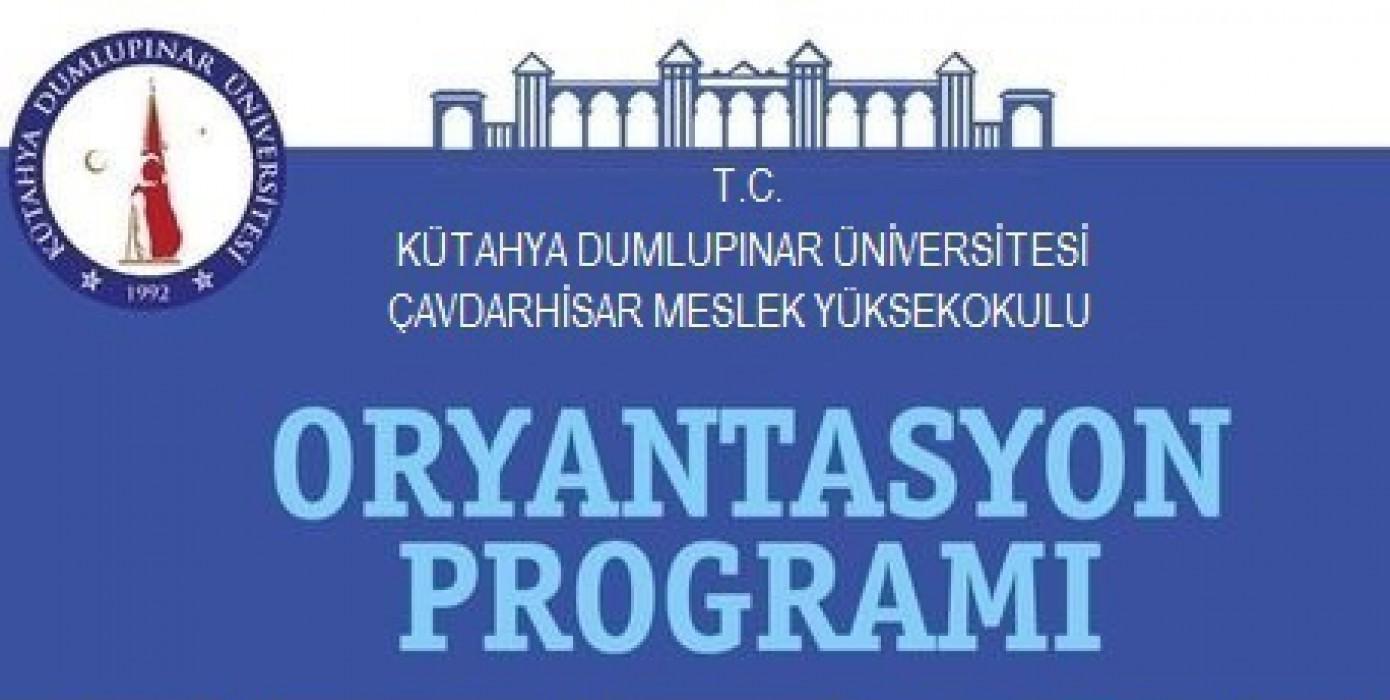 2020-2021 Akademik Yılı Oryantasyon Programı