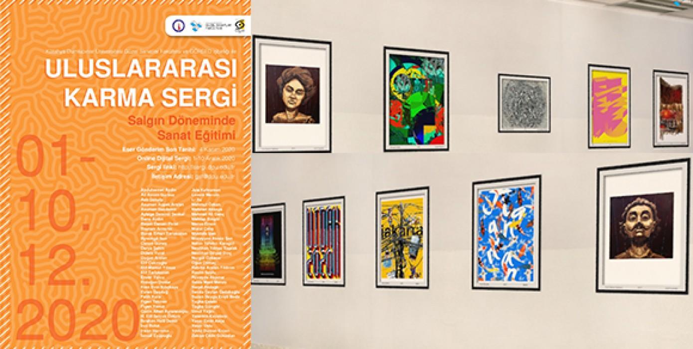 """GSF ve Görsed'in Birlikte Düzenlediği """"Salgın Döneminde Sanat Eğitimi"""" Uluslararası Jürili Karma Sergi Açıldı"""