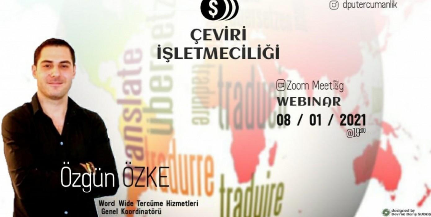 Webinar: Özgün Özke ile Çeviri İşletmeciği