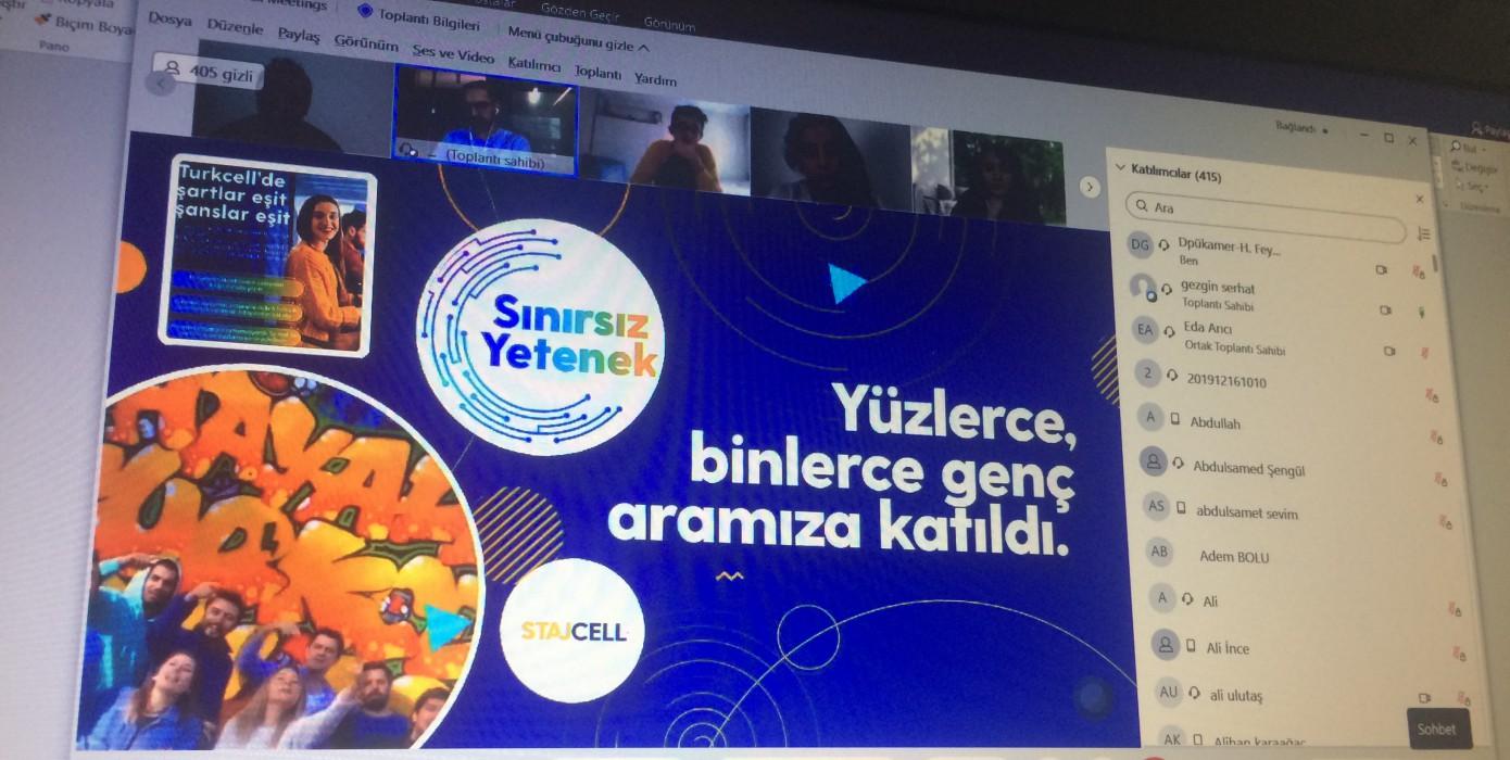 Turkcell Kariyer Fırsatları Çevrim İçi Etkinliğimizde Konuşuldu