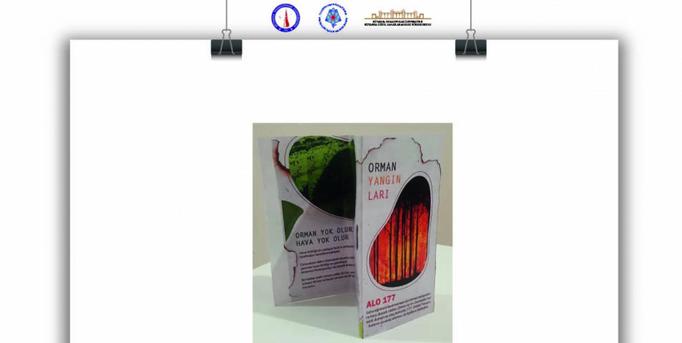 Grafik Tasarımı Programı Kapsamında Sosyal Mesaj İçerikli Çanta ve Broşür Tasarımları Sergisi.