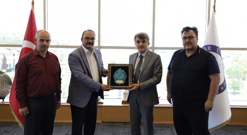 Başkan Sancaktaroğlu'ndan Rektörümüze Ziyaret