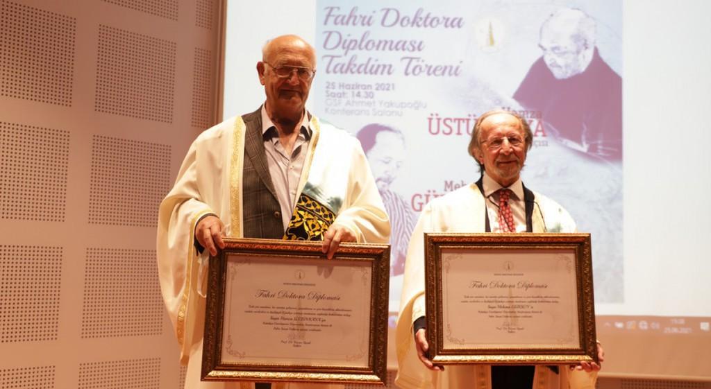 Honorary Doctorate Titles from DPU to Üstünkaya and Gürsoy