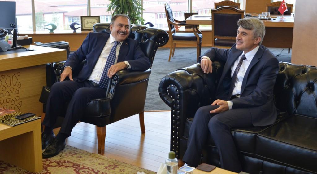 Prof. Dr. Veysel Eroğlu'ndan DPÜ'ye Ziyaret